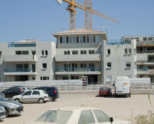 Construction de l'immeuble les princes du Golfe à Porto-Vecchio