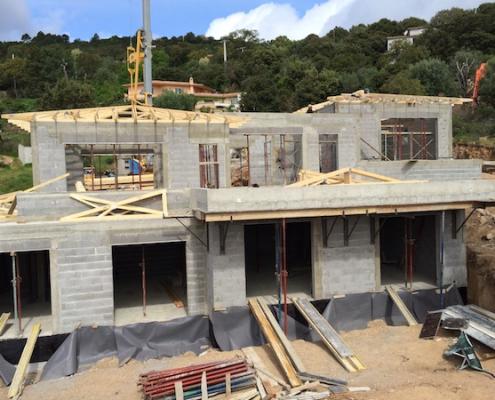 Construction de villas à Porto-Vecchio - Gros oeuvre