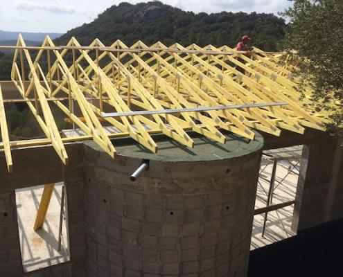 Construction de villas à Porto-Vecchio - Charpente