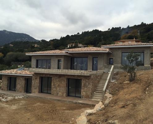 Construction de villas à Porto-Vecchio - Gros oeuvre revetement