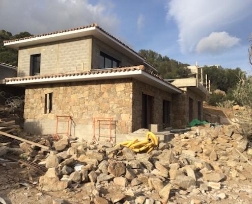 Construction de villas à Porto-Vecchio - Revetement pierres